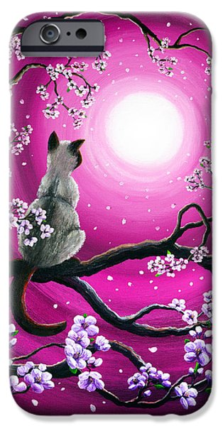 Surreal Landscape iPhone Cases - Magenta Morning Sakura iPhone Case by Laura Iverson