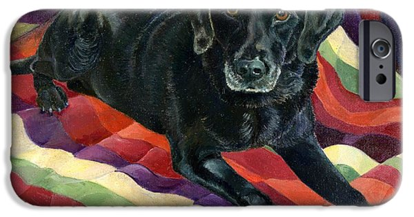 Black Dog iPhone Cases - Maggie Lennon iPhone Case by Kimberly McSparran