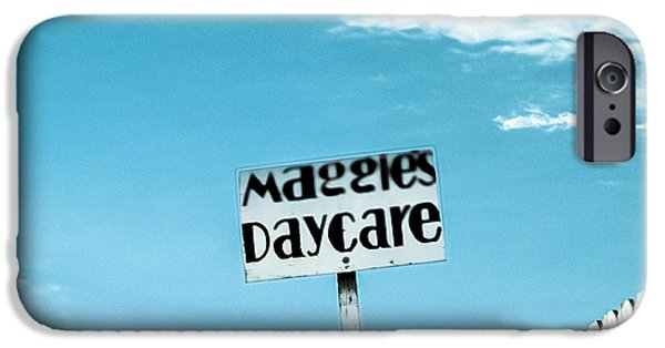 Business iPhone Cases - Maggies Daycare iPhone Case by Yo Pedro