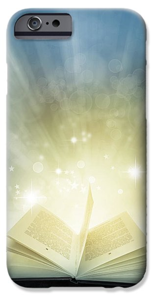 Learn iPhone Cases - Magic book iPhone Case by Les Cunliffe