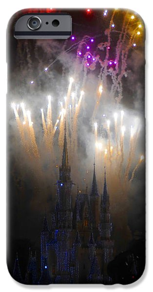 Magic Kingdom iPhone Cases - Magic Castle Night iPhone Case by David Lee Thompson