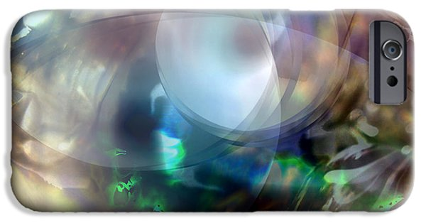 Abstract Digital Digital iPhone Cases - Magic Glass II iPhone Case by Judy Paleologos