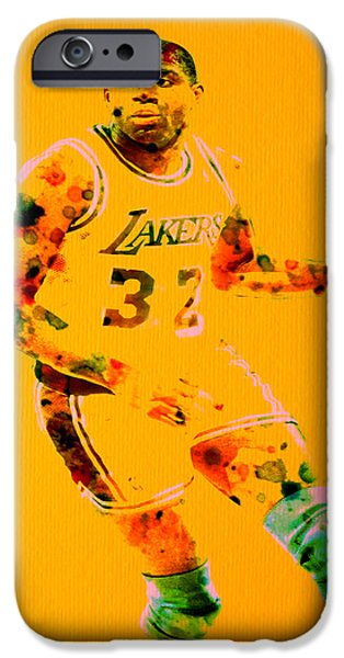 Magic Johnson iPhone Cases - Magic Johnson iPhone Case by Brian Reaves