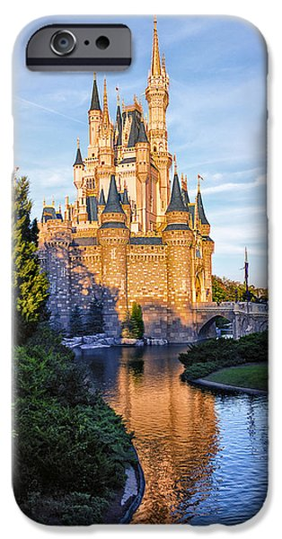 Magic Kingdom iPhone Cases - Magic Kingdom Castle iPhone Case by Bill Tiepelman