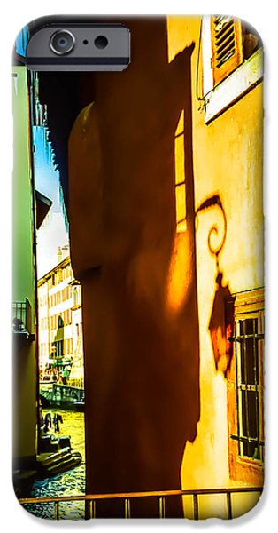 Magic Lantern on the Walls of Annecy iPhone Case by Jenny Rainbow