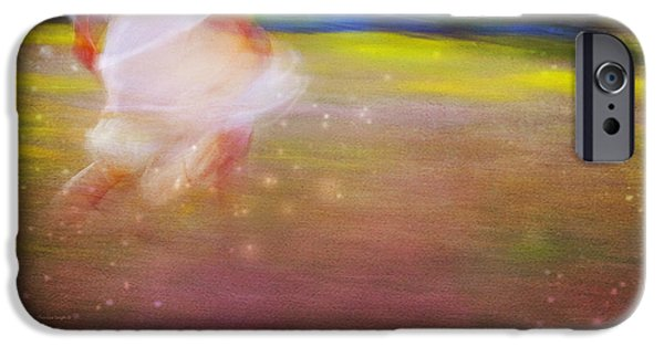 Little Girl iPhone Cases - Magic Meadow iPhone Case by Theresa Tahara