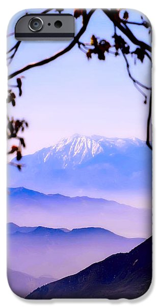 Magic mountain iPhone Case by Camille Lopez