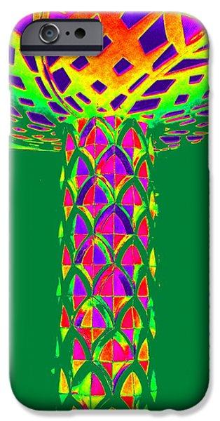 Mushroom Digital Art iPhone Cases - Magic Mushroom One iPhone Case by Randall Weidner