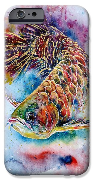 Wealth iPhone Cases - Magic of Arowana iPhone Case by Zaira Dzhaubaeva