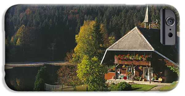 Balcony iPhone Cases - Magic of autumn iPhone Case by Holger Spiering