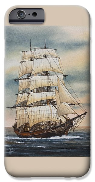 Tall Ship iPhone Cases - Magic of the Sea iPhone Case by James Williamson