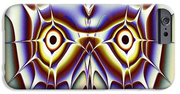 Looking iPhone Cases - Magic Owl iPhone Case by Anastasiya Malakhova
