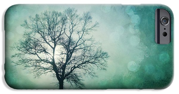 Haunted iPhone Cases - Magic Tree iPhone Case by Priska Wettstein