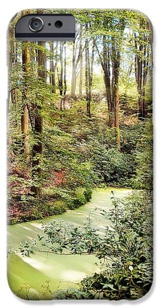 Botanic Illustration iPhone Cases - Magic World of Botanic Gardens iPhone Case by Danuta Antas Wozniewska