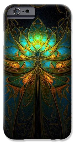 Floral Digital Art Digital Art iPhone Cases - Magical iPhone Case by Amanda Moore