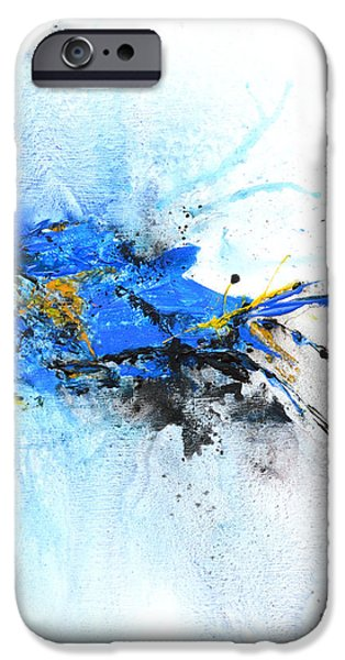 Magical Blue 1- abstract art iPhone Case by Ismeta Gruenwald