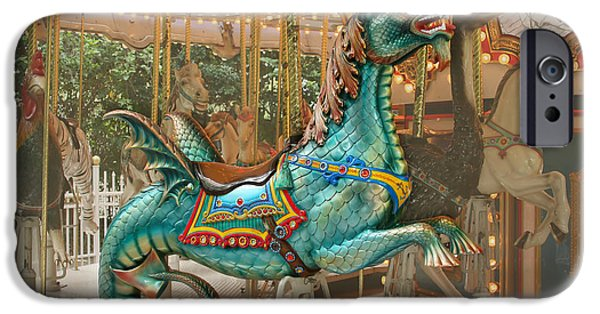 Serpent iPhone Cases - Magical Carousel iPhone Case by Sabrina L Ryan