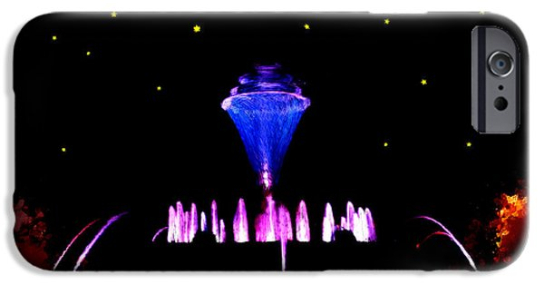 Jet Star iPhone Cases - Magical Fountain iPhone Case by Bruce Nutting