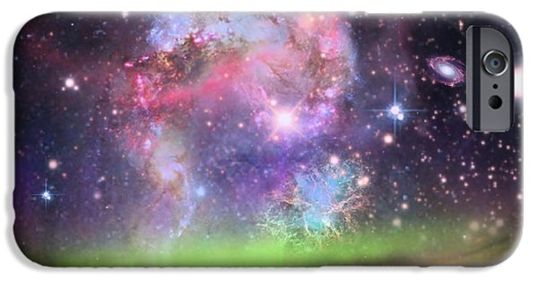 Creative Manipulation iPhone Cases - Jewels In The Sky iPhone Case by Ester  Rogers