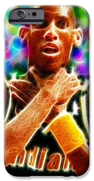 Magical Reggie Miller Choke iPhone Case by Paul Van Scott