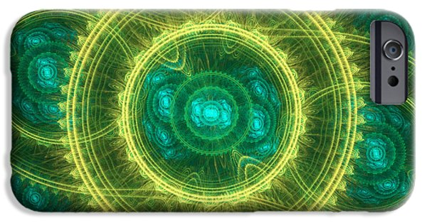 Abstract Digital Digital iPhone Cases - Magical seal iPhone Case by Martin Capek