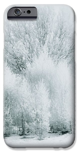 Google Mixed Media iPhone Cases - Magical Snow Palace iPhone Case by Georgiana Romanovna