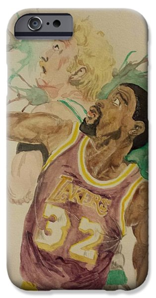 Magic Johnson iPhone Cases - MagicBird iPhone Case by DMo Herr