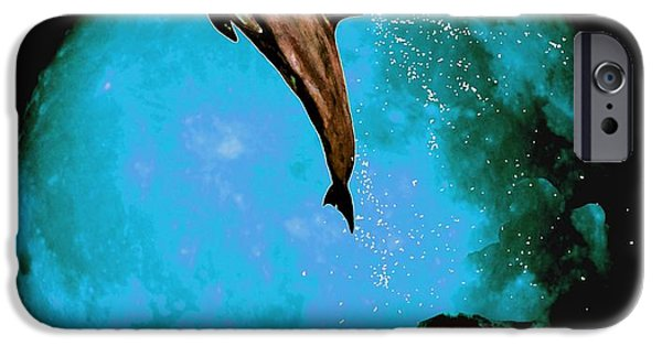 Sea Moon Full Moon Mixed Media iPhone Cases - Magician Of Seas iPhone Case by Richard Tito