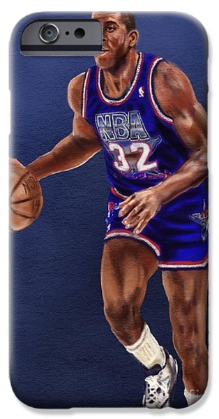 Magic Johnson iPhone Cases - Magics Return iPhone Case by Jeremy Nash