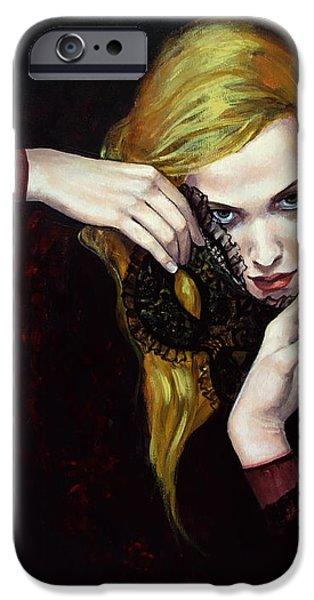 Magie Noir iPhone Case by Dorina  Costras