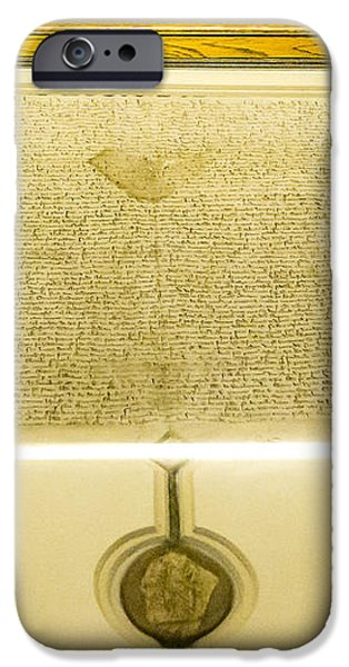 Magna Carta iPhone Case by Steven Ralser