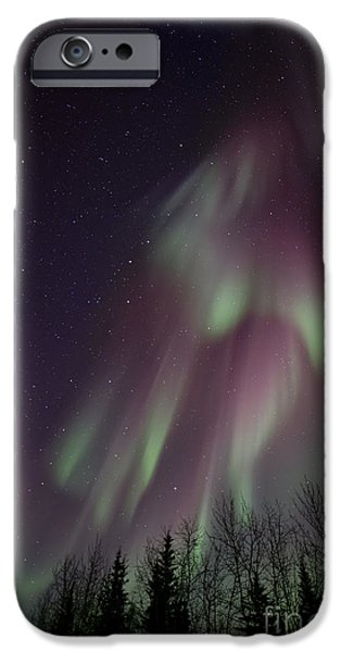 Northern Lights iPhone Cases - Magnificence iPhone Case by Priska Wettstein