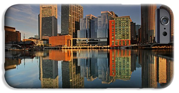 City. Boston iPhone Cases - Magnificent Boston iPhone Case by Juergen Roth