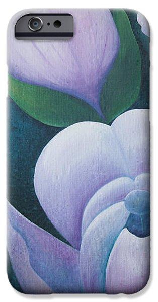 Magnificent magnolia buds vertical pink flower bud closeup textu iPhone Case by Christina Rahm