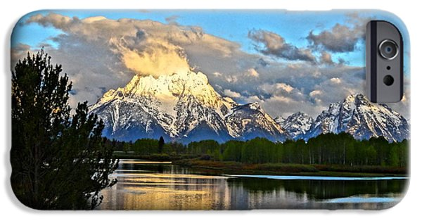 Painter Photographs iPhone Cases - Magnificent Mountain iPhone Case by Dan Sproul