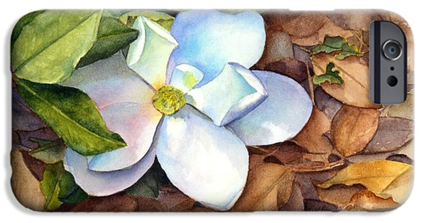 Magnolia iPhone Cases - Magnolia iPhone Case by Bonnie Rinier