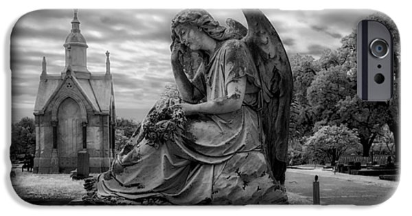 Art Mobile iPhone Cases - Magnolia Cemetery in Mobile iPhone Case by Mountain Dreams