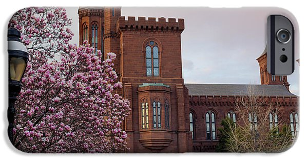 Smithsonian Museum iPhone Cases - Magnolias Near The Castle iPhone Case by Andrew Pacheco