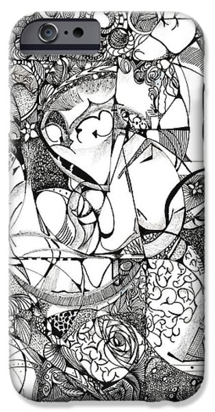 Outer Space Drawings iPhone Cases - Magnum Mix iPhone Case by Ronda Breen