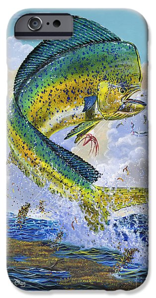 Atlantis iPhone Cases - Mahi Hookup Off0020 iPhone Case by Carey Chen