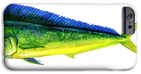 Tackle iPhone Cases - Mahi Mahi iPhone Case by Charles Harden