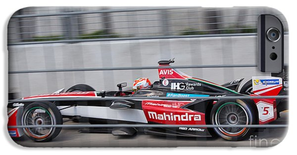 Michelin iPhone Cases - Mahindra Race Team ePrix II iPhone Case by Rene Triay Photography