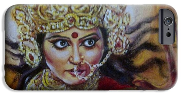 Hindu Goddess iPhone Cases - Mahishasura Mardhini iPhone Case by Murali Surya