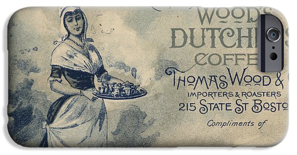 Recently Sold -  - Duchess iPhone Cases - Maid Serving Coffee Advertisement for Woods Duchess Coffee Boston  iPhone Case by American School