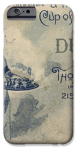 Maid Serving Coffee Advertisement for Woods Duchess Coffee Boston  iPhone Case by American School