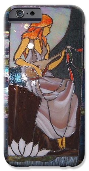 Moon Glass Art iPhone Cases - Maiden iPhone Case by Nora Solomon