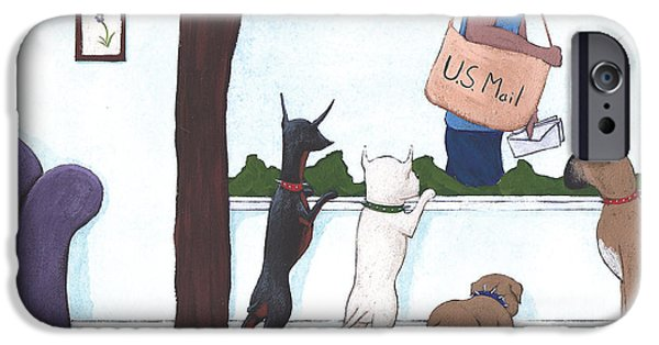 Dogs iPhone Cases - Mailman iPhone Case by Christy Beckwith