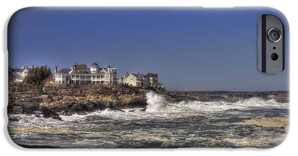New England Lighthouse iPhone Cases - Main Coastline iPhone Case by Joann Vitali