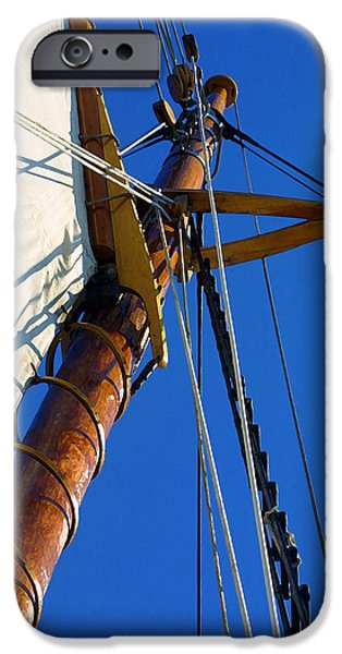Sailboats iPhone Cases - Main Mast iPhone Case by Bill Caldwell -        ABeautifulSky Photography