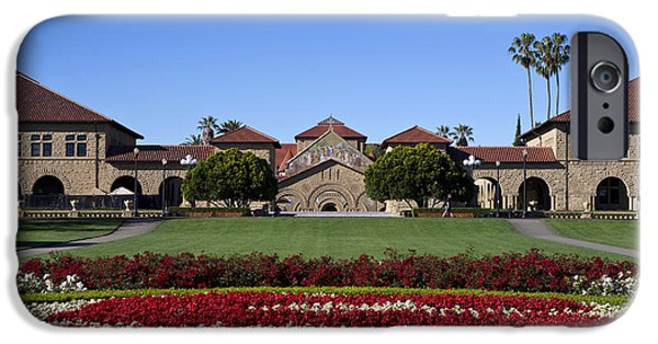 Jason O. Watson iPhone Cases - Main Quad Stanford California iPhone Case by Jason O Watson